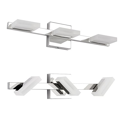 contemporary bathroom lighting fixtures. Interesting Bathroom Letsun LED Vanity Light 3 Lights Bathroom Wall Light Chrome  Frosted Acrylic 360 Degrees Rotation Warm White 9W 500LM Inside Contemporary Lighting Fixtures