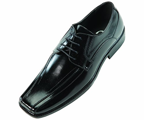 Sio Mens Classic Black Smooth Wide Width Oxford Dress Shoe: Style Mason-ww Black-000
