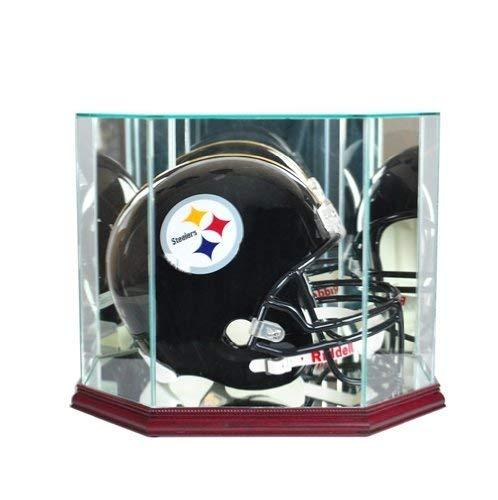 Sports Integrity Octagon Full Size Football Helmet Cherrywood Display Case