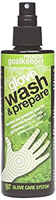 Gloveglu Men's Wash and Prepare Goalkeeper Glove - Black, 250ml