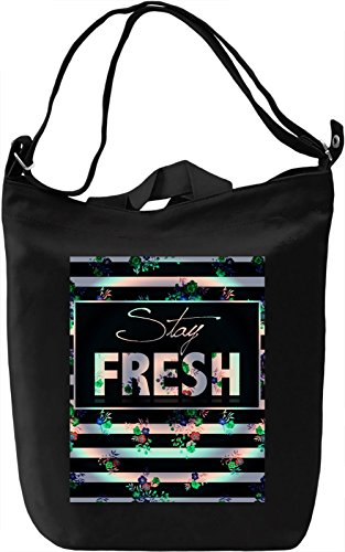 Stay Fresh Borsa Giornaliera Canvas Canvas Day Bag| 100% Premium Cotton Canvas| DTG Printing|