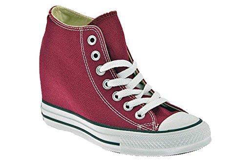 Chaussures Converse Chuck Taylor ALL STAR tissu fuchsia avec 548464C de coin interne Rouge - Rojo - rojo burdeos
