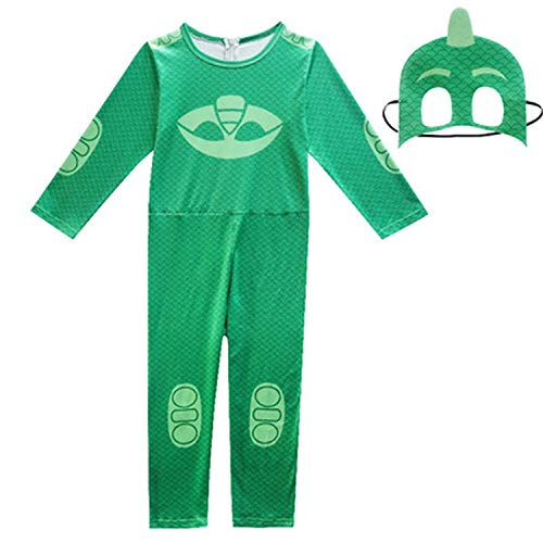 Kids Boyss Christmas Year Party Dress Halloween Costume Pajama Mask,Green,11T ()