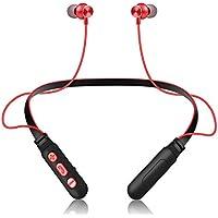 KerKoor Noise Cancellation Waterproof Sweatproof Neckband Bluetooth Wireless Hi-Fi Headset (Black + Red)