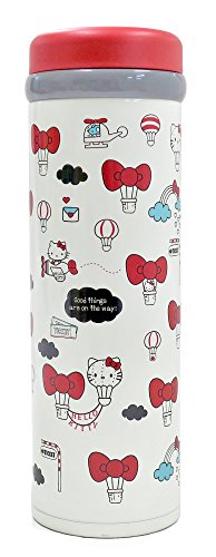 - Stainless Steel Lightweight Thermos Thermal Insulated Bottle Red Hello Kitty by OSK KTL SB-350B