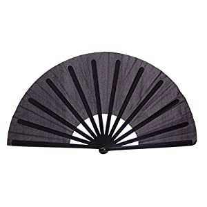 Chinese Nylon-Cloth Fan for Ladies, Black
