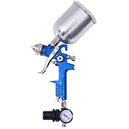 Goplus 3 HVLP Air Spray Gun Set with Cups, for all Auto Paint, Basecoat Car, Primer, Clearcoat w/ Case
