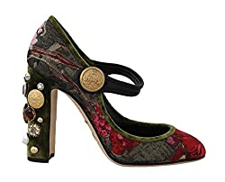 Jacquard Crystal Mary Janes Shoes