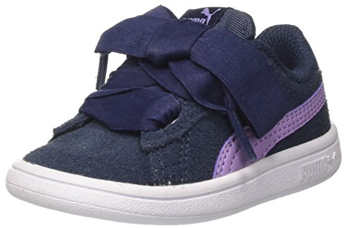 Puma Smash V2 Ribbon AC Inf, Zapatillas Para Niñas Azul (Sargasso Sea-purple Rose)