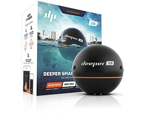 Deeper Smart Fishfinder 3.0 - iOS and Android Compatible Bluetooth Fish Finder for Shore and Ice Fishing