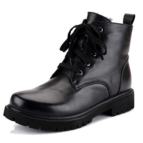 Cordones Botas Tacon De Nieve Forradas Warm Mujer Zapatos Platafroma Negro Annieshoe Botines Invierno Fqz8AwdFC