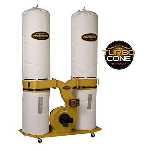 - Powermatic PM1900TX-BK3 Dust Collector 3HP 3PH 230/460-Volt 30-Micron Bag Filter Kit