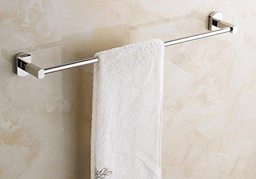 Hlluya Toallero Una Sola Palanca toallero de latón baño Toallas Wall-Palanca montada en la extensión en el baño, Cobre, Palanca única, Punch, 45 cm.