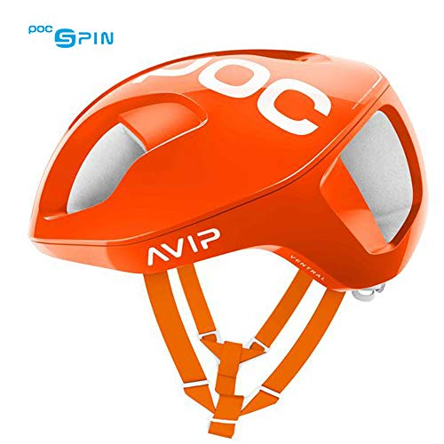 (POC Ventral Spin, Cycling Helmet, Zink Orange AVIP, L)