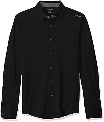 Calvin Klein Men's Long-Sleeve Snap-Front Commuter Shirt