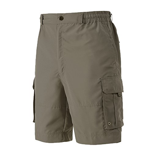 Brown Casual Shorts - A.WAVE Outdoor Sports Cargo Short Elastic Waist Flat Front Quick Dry (XL, Brown)