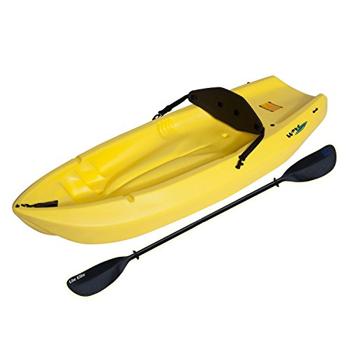 Lifetime-90100-Yellow-6-Youth-Wave-Kayak-One-Double-side-Paddle