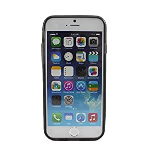 """Soft Silicone Gel Edge Frame Fitted Protective Case Cover Skin for iPhone 6 4.7"""" Grey"""
