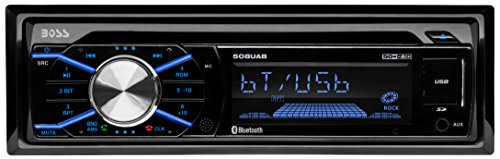 BOSS Audio 508UAB Single Din, Bluetooth, CD/MP3/WMS/USB/SD AM/FM Car Stereo,   Wireless Remote