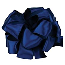 Offray Wired Edge Single Face Satin Contessa Craft Ribbon, 1-1/2-Inch by 25-Yard Spool, Light Navy