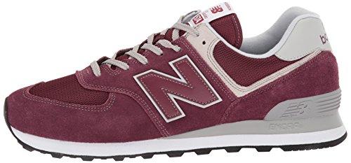New Balance Men's 574 V2 Evergreen Sneaker, Burgundy/Grey, 7.5 M US