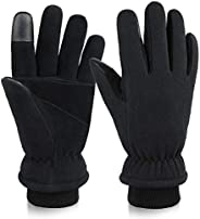 Heated Winter Gloves for Men/Women Touch Screen Glove Warm in Cold Weather Black