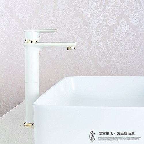 ETERNAL QUALITY Badezimmer Waschbecken Wasserhahn Messing Hahn Waschraum Mischer Mischbatterie Tippen Sie auf kalten Wasserhahn einzigen Griff einzelne Bohrung Waschtisch
