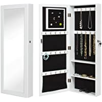 Best Choice Products Mirrored Jewelry Cabinet Armoire Organizer Storage Wall Mount