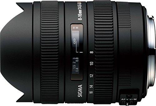 Sigma 8-16mm f/4.5-5.6 DC HSM FLD AF Ultra Wide Zoom Lens for APS-C sized Nikon Digital DSLR Camera