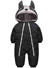 JiAmy Baby snödräkt sparkdräkt vinter sparkdräkt med huva pojkar flickor spädbarn snökläder tjocka kläder