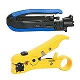 YaeTek RG59 RG6 RG11 Compression Tool Coax Coaxial Cable Wire Crimper Striper … (AB-0065NEW)