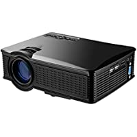 Portable Mini HD Projector 1080p, 1500 Lumens LED Video Projector For Home Theater Movies, Connects To Android Smartphone , Tablet, or PC Via HDMI, AV, VGA, USB and SD