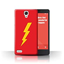 STUFF4 Phone Case / Cover for Xiaomi Redmi Note 4G / Thunderbolt Flash Design / Funny Nerdy Sitcom TV Collection