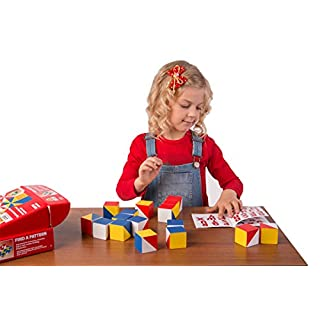Wooden cubes FIND A PATTERN blocks - kids educational toys improve memory attention logical creative thinking imagination learning toys for kids by Nikitin