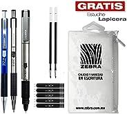 Zebra México Paquete 301: 2 Bolígrafos + Pluma Fuente + Repuestos.