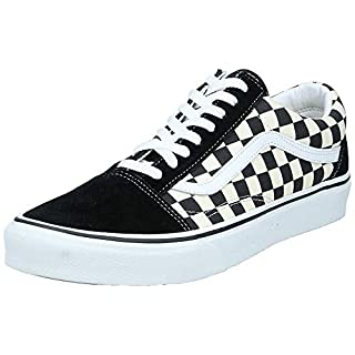 Vans Unisex Old Skool Classic Skate Shoes, (Primary Checkered) Black/White, 9 Women/7.5 Men