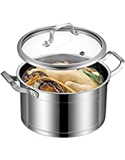 6 Quart Stockpot, Stainless Steel Stockpot with Lid, Soup pot