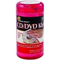 Read Right CD/DVD Kleen, 75 Wipes per Pop-Up Tub (RR1420)