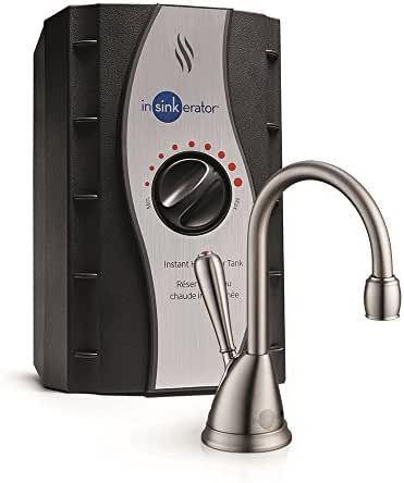 InSinkErator View Instant Hot Water Dispenser System - Faucet & Tank, Satin Nickel, H-View-SN