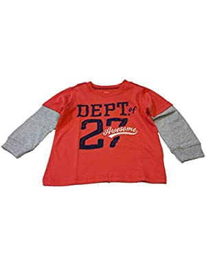 Baby Boys L/S Dept of 27 Awesome Tee (Red)
