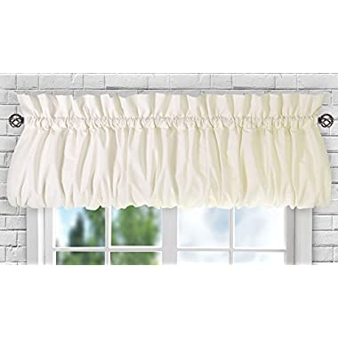Ellis Curtain Stacey Balloon Valance, 60  x 15 , Ice Cream