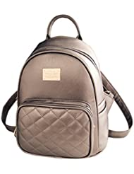 Gesver Ladies PU Leather Stylish Casual Small Backpack Purse for Womens