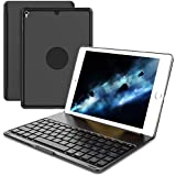 Fancart ipad Keyboard Case for iPad Pro 9.7 - Aluminum Alloy Bluetooth Keyboard Smart Tablet Keyboard Shockproof Protective Cover Case for 7 Color Backlit - 9.7 iPad Case with Keyboard