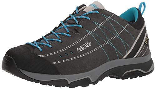 Asolo Women's Nucleon GV Graphite/Silver/Cyan Blue 7.5 B US