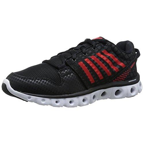 K-Swiss Men's X Lite ST CMF Training Shoe, Black/Fiery Red, 9.5 M US
