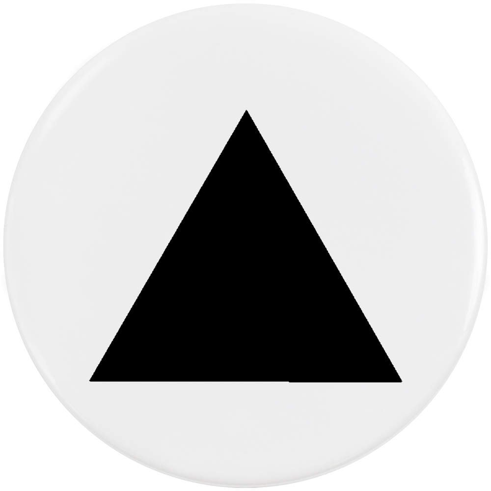 Azeeda 58mm 'Triangle' Bouton de Badge (BB00013884)
