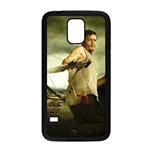 C-EUR Customized Print The Walking Dead Hard Skin Case Compatible For Samsung Galaxy S5 I9600