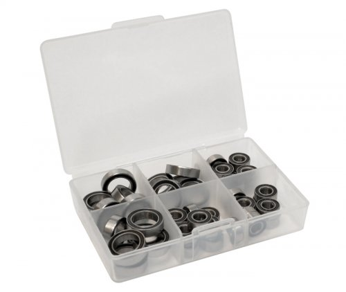 Boom Racing #XGTBBZ High Performance Full Ball Bearings Set Rubber Sealed (8 Total) for Ofna (Ofna Rubber)