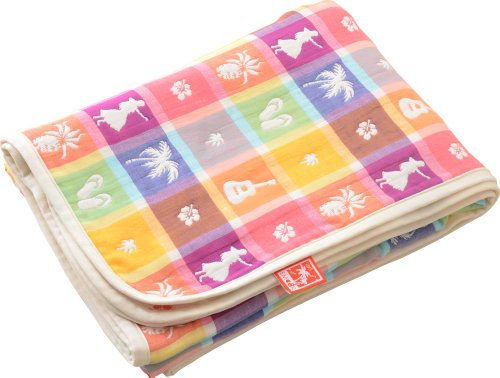 EMOOR 6-Layered Hawayan-Style Gauze Blanket, Japanese Twin Size (55 x 79 in.). Made in Japan by EMOOR