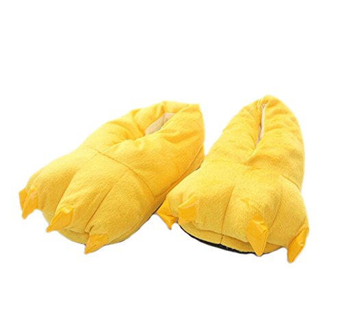 DELEY Unisex Cosplay Animal Traje de Felpa Home Zapatillas Pijama Zapatos Amarillo